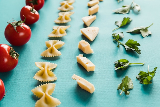 Lignes d'ingrédients italiens