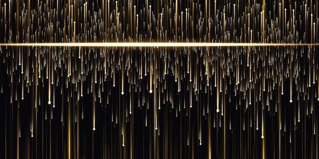 Lignes lumineuses abstraites fond de technologie météore rougeoyant illustration 3d