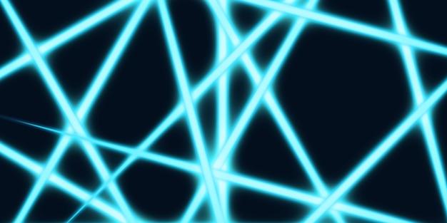 Lignes lumineuses abstraites lignes brillantes sur une illustration 3d de fond sombre