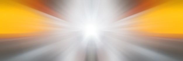 Lignes lumineuses dynamiques. lumière du point central. flash lumineux. mouvement dynamique dans l'espace.