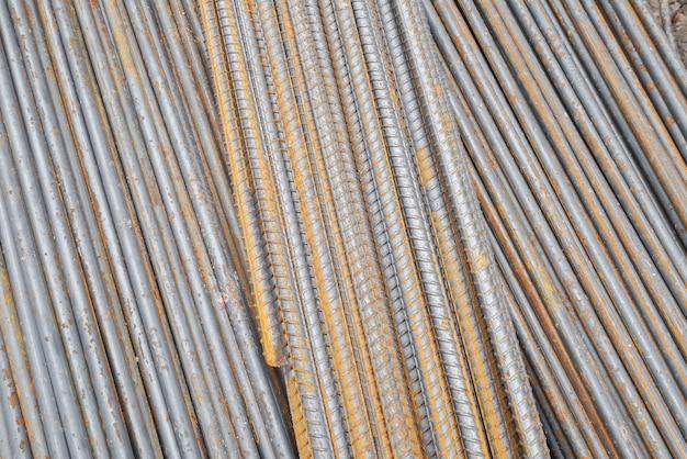 Lignes de rail de fer métal