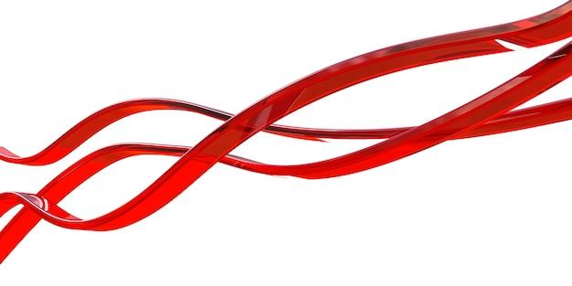 Lignes de verre rouge isolés sur blanc