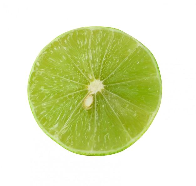 Limes isolé sur le fond blanc
