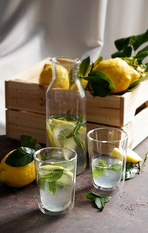 Limonade citronnée à la menthe