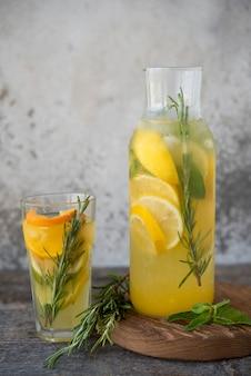 Limonade d'orange maison aux agrumes et menthe