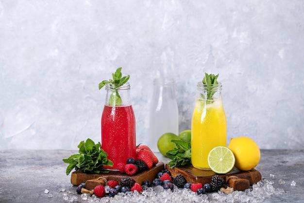 Limonades à la framboise et au citron