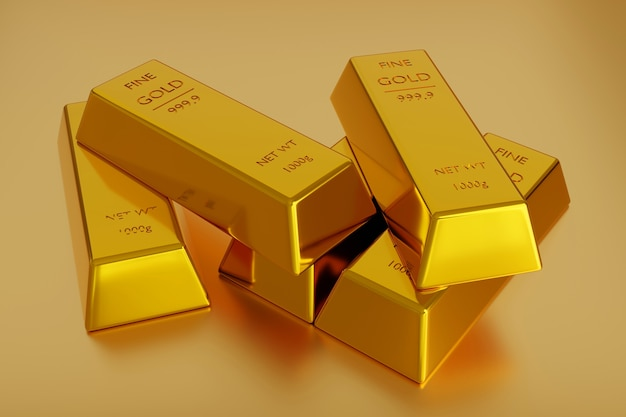 Lingot d'or ou pile de lingots d'or