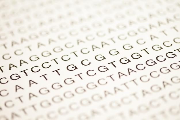 Liste des analyses d'adn en majuscules