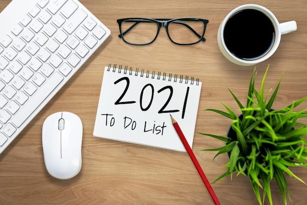 Liste des objectifs de résolution de bonne année 2021