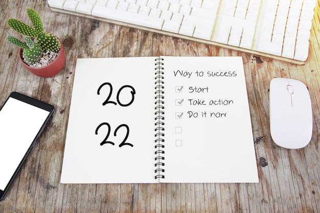 Liste des objectifs de résolution du nouvel an, chemin vers le succès 2020