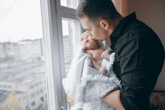 Lit bébé homme portrait mignon