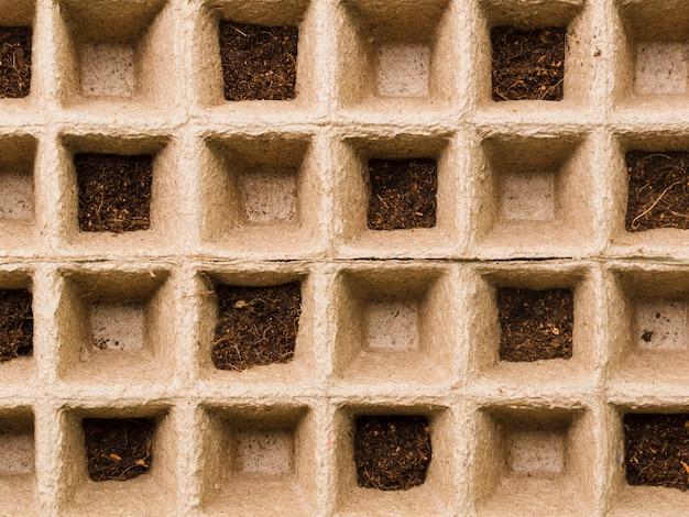 Lit de semences vue de dessus