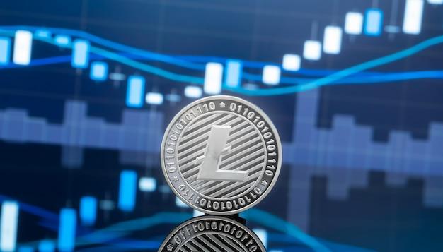 Litecoin et concept d'investissement de crypto-monnaie.