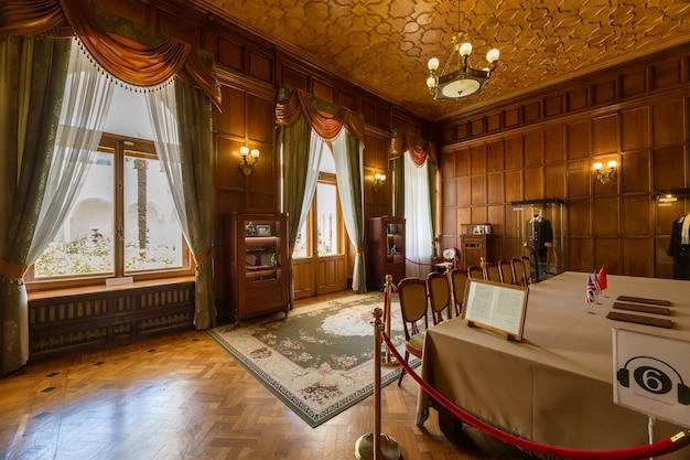 Livadia crimée intérieur de la résidence de crimée du dernier tsar russe nicolas ii