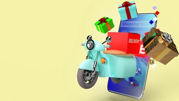 La livraison du scooter et le coffret cadeau et le téléphone portable