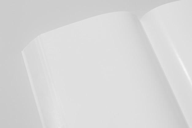 Livre blanc de l'espace copie haute vue