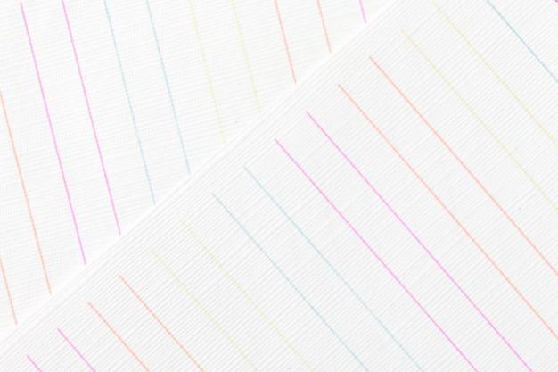 Livre blanc avec fond de texture colorée de ligne.