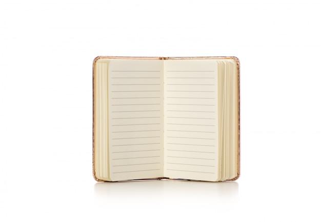 Livre ou cahier sur fond blanc