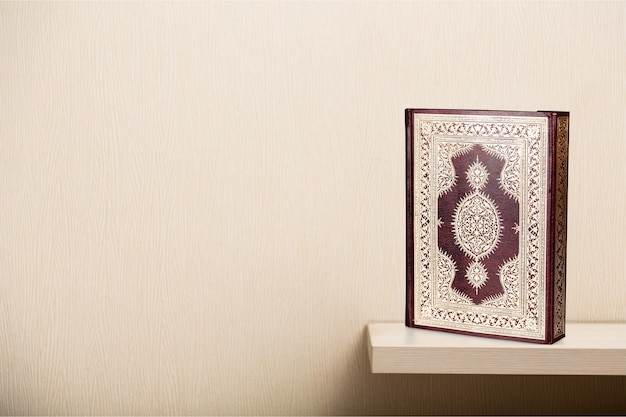 Livre islamique coran sur fond
