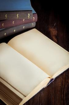 Livre ouvert en couleur de ton clair vintage