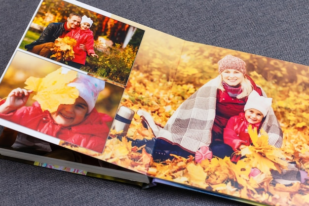 Livre photo pour enfants, week-end d'automne