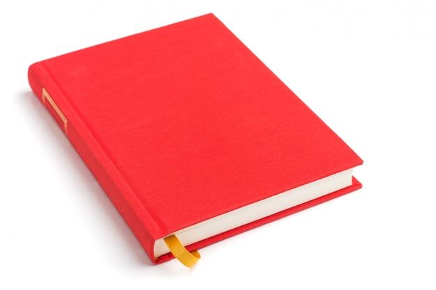 Livre rouge avec signet jaune