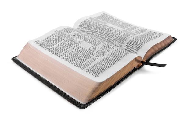 Livre de la sainte bible sur un fond en bois