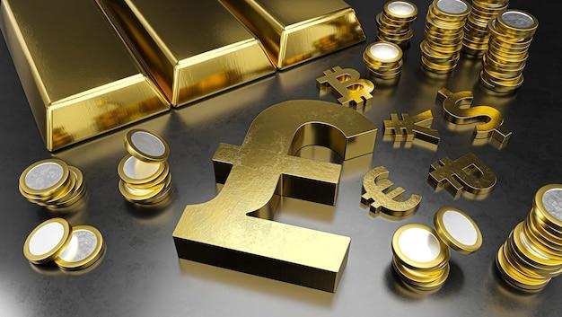 La livre se démarque des autres devises, le rouble se renforçant. fond de bourse, concept bancaire ou financier.