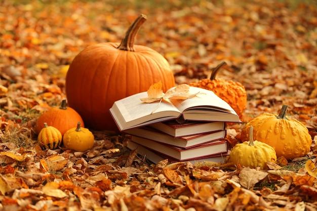 Livres d'automne. lire des livres sur l'automne. livres d'halloween.