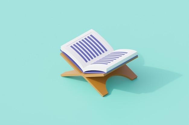 Les livres du coran sont ouverts à la religion islamique.