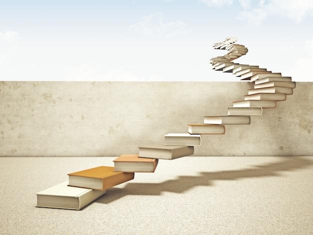 Livres escalier
