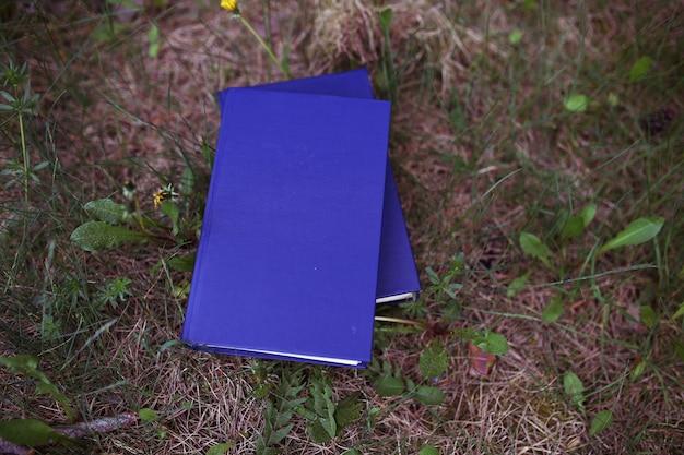 Livres en plein air. livres dans les bois