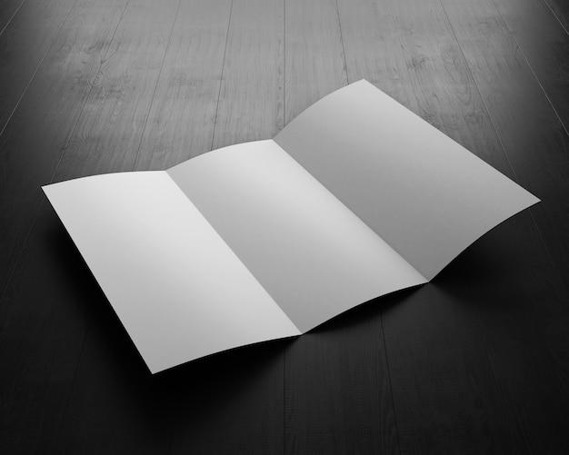 Livret ouvert sur tableau noir. illustration 3d.