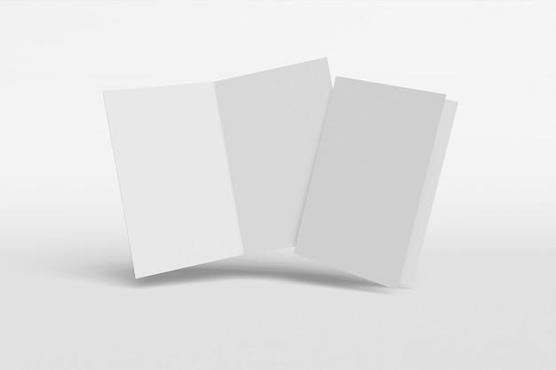 Livret vertical isolé sur fond blanc