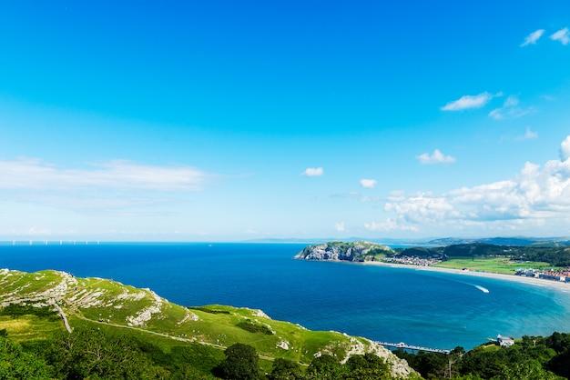 Llandudno sea front dans le nord du pays de galles, royaume-uni