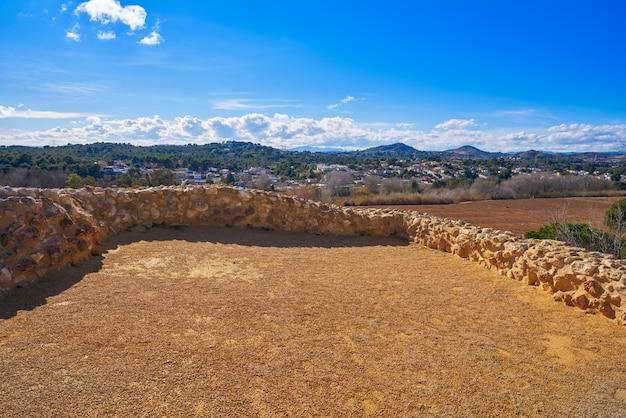 Lloma de betxi, ruines ibériques de llans de paterna en espagne à vallesa