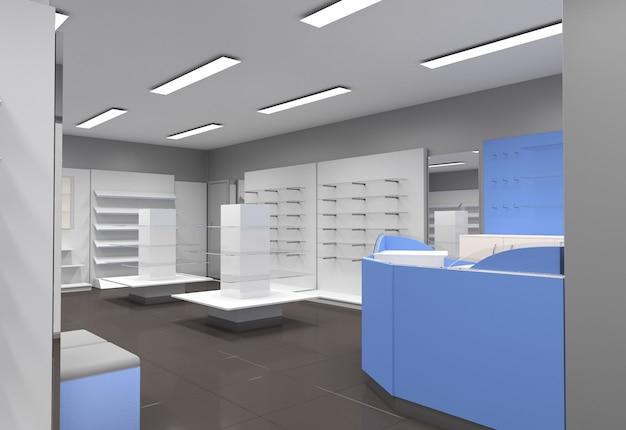 Local commercial, boutique, visualisation intérieure