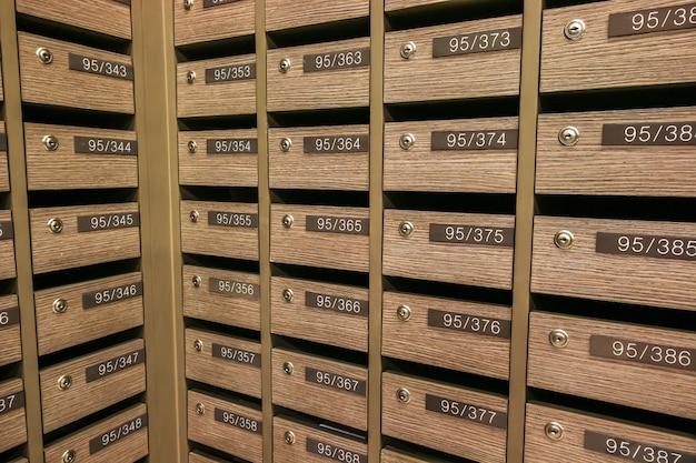 Locker mailboxes postal. règlement sur la boîte aux lettres de condominium