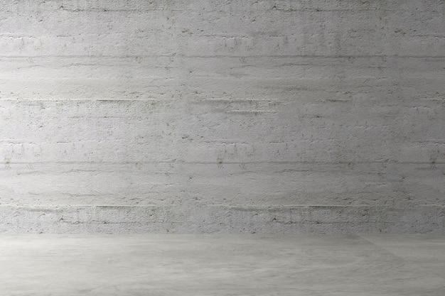 Loft chambre vide design d'intérieur authentique