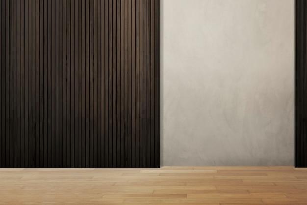 Loft chambre vide avec lambris en bois design intérieur authentique