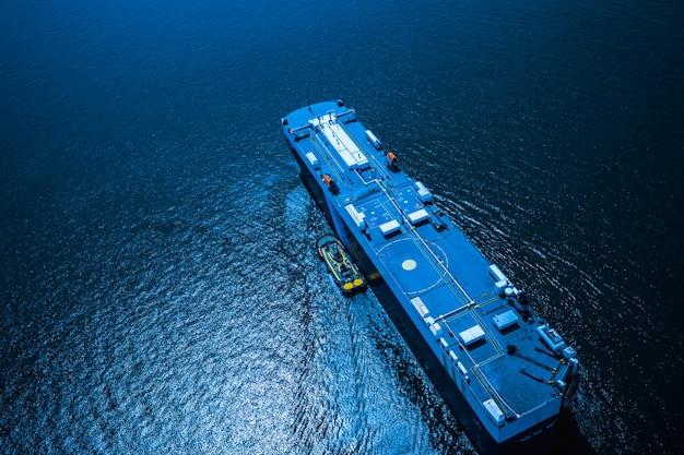 Logistique commerciale d'expédition des conteneurs de fret transportent la mer import et export international