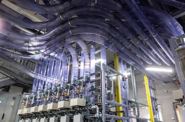 Logistique de transport post pipeline, centre de distribution du courrier pipeline, concept de transport d'une marchandise