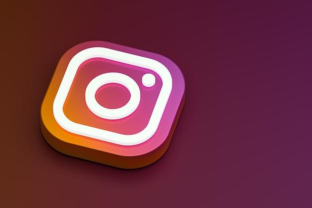 Logo 3d instagram