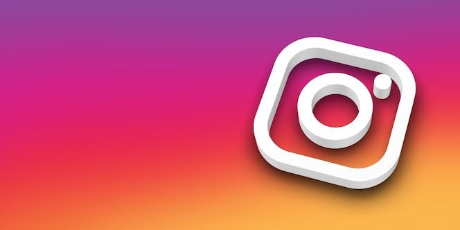 Logo 3d de médias sociaux