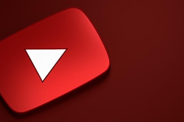 Logo 3d De Youtube Photo Premium