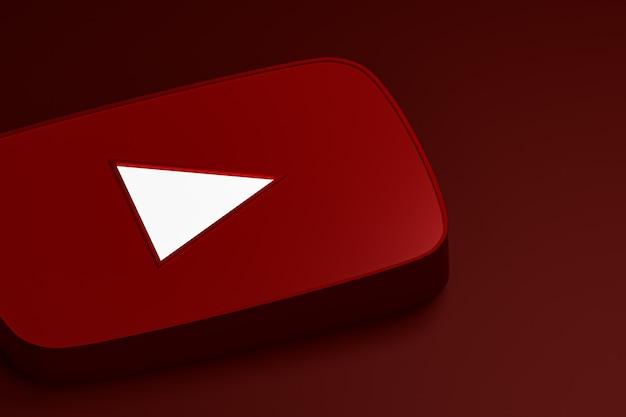 Logo 3d de youtube