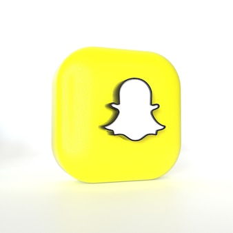 Logo de l'application snapchat avec rendu 3d