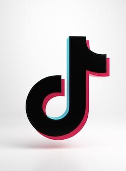 Logo de l'application tik tok design simple et minimal