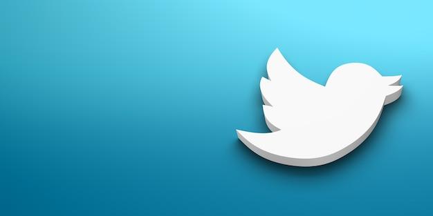 Logo blanc de médias sociaux
