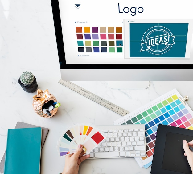 Logo être creative inspiration design concept